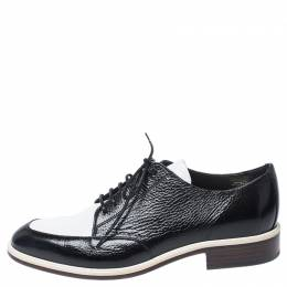 Lanvin Two Tone Leather Derby Shoes Size 38 252554