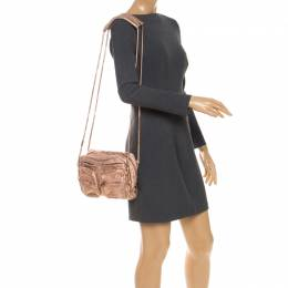 Alexander Wang Metallic Rose Gold Leather Brenda Shoulder Bag 251865