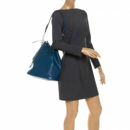Louis Vuitton Toledo Blue Epi Leather Petit Noe Bag 251269