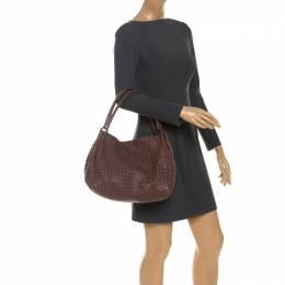 Bottega Veneta Brown Intrecciato Leather Parachute Shoulder Bag 251303