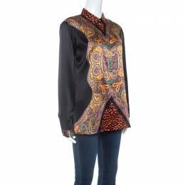Etro Multicolor Paisley Print Silk Button Front Shirt M 252203