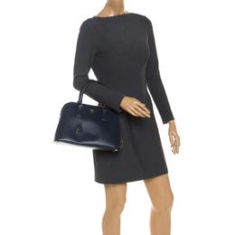 Prada Blue Saffiano Lux Leather Promenade Bag 251119