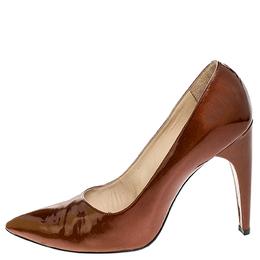 Louis Vuitton Bronze Patent Leather Pointed Toe Pumps Size 40.5 252272