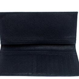 Prada Navy Blue Saffiano Leather Bifold Long Wallet 252268