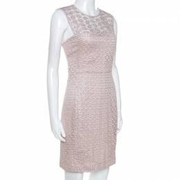 Diane Von Furstenberg Pale Pink Kinchu SG Lace Dress M 253238