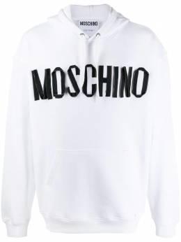 Moschino худи на молнии с логотипом A17092027