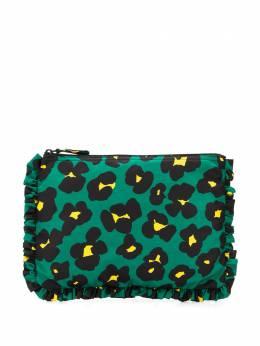 La Doublej клатч на молнии с леопардовым принтом BAG0002NYL001