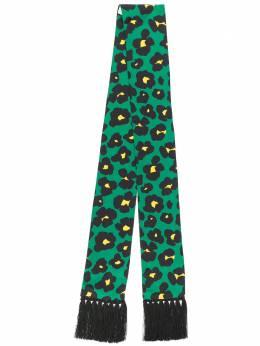 La Doublej узкий шарф Simple с леопардовым принтом SCA0015SIL001
