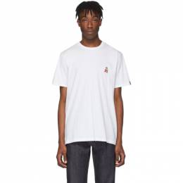 Rag&Bone White Pizza Rat T-Shirt MBC19HT102UA01