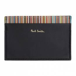 Paul Smith Black Card Holder and Multicolor Three-Pack Socks Gift Set M1A-PSSET-AGIFTD