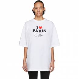 Vetements White I Love Paris T-Shirt SS20TR248