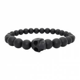 Alexander McQueen Black Ball Skull Bracelet 554504J682V