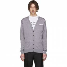 Dsquared2 Grey Pocket Cardigan S74HA1018 S16794