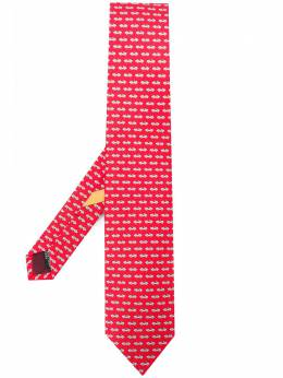 Salvatore Ferragamo галстук с принтом 723068