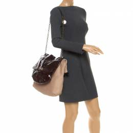Lanvin Multicolor Leather and Patent Foldover Shoulder Bag 252021