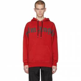 Palm Angels Red Front Logo Hoodie PMBB036R206360012010