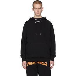 Palm Angels Black Classic Over Logo Hoodie PMBB036R206360351001