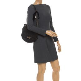 Lanvin Black Leather Happy Shoulder Bag 251589