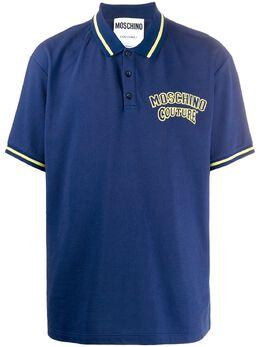 Moschino рубашка-поло с логотипом J12082042