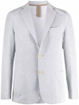 Eleventy однобортный пиджак с необработанными краями A70GIAA01JAC23021