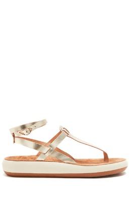 Сандалии платинового цвета Estia Comfort Ancient Greek Sandals 537170935