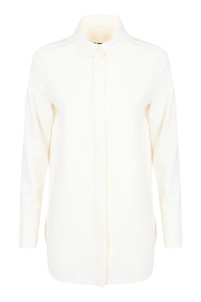 Базовая рубашка молочно-белого оттенка Jil Sander 413171569 - 1