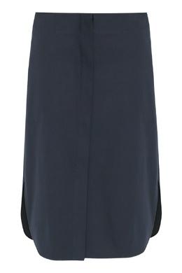 Темно-синяя юбка с разрезами Jil Sander 413171593