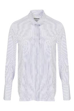Белая рубашка в полоску Jil Sander 413171700