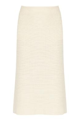 Светло-желтая юбка-миди А-силуэта Jil Sander 413171752
