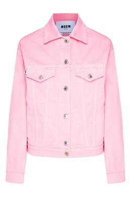 Розовая куртка из хлопка MSGM 296171809