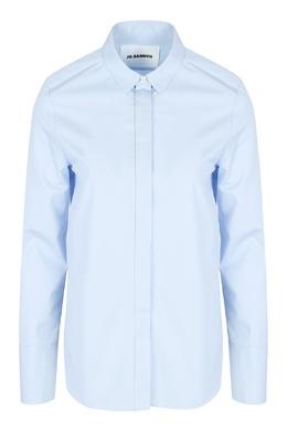 Голубая рубашка из хлопка Jil Sander 413171682