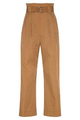 Бежевые брюки с поясом Ganni 2979172031