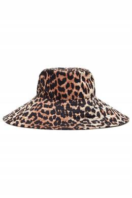 Бежевая шляпа из нейлона Ganni 2979172089