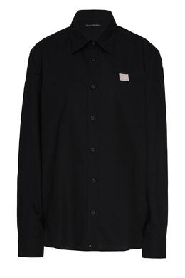Черная рубашка прилегающего кроя Acne Studios 876171537