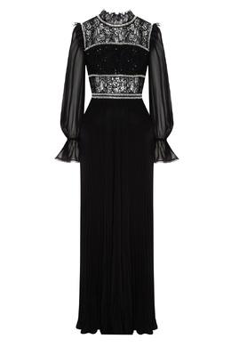 Длинное платье черного цвета Self-Portrait 532172101