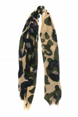 Шерстяной шарф с камуфляжным узором Faliero Sarti 3118172949