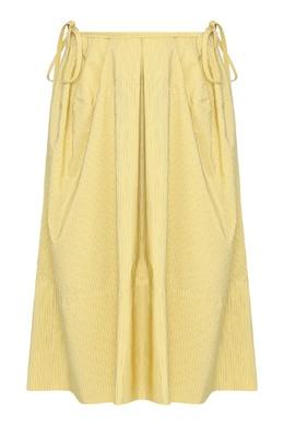Желтая юбка с карманами Jil Sander 413172342