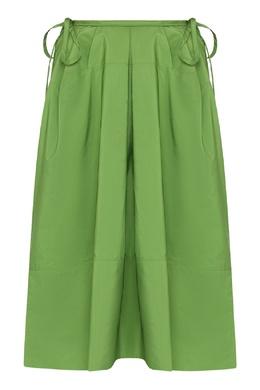 Зеленая юбка с драпировками Jil Sander 413172341