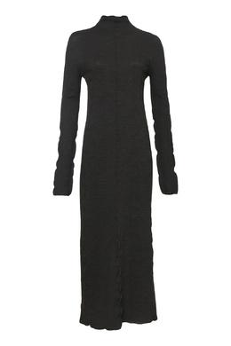 Коричневое миди-платье из шерсти Jil Sander 413172432