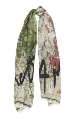 Серый шарф с принтами Faliero Sarti 3118172971