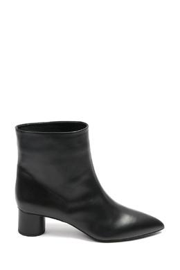 Черные кожаные ботильоны на низком каблуке Jil Sander 413172325