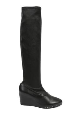 Черные кожаные сапоги на платформе Jil Sander 413172321