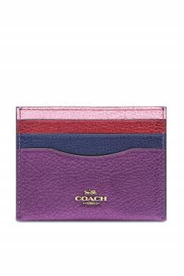 Разноцветная кожаная визитница Coach 2219172912