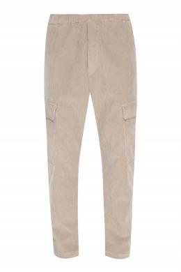 Бежевые вельветовые брюки свободного кроя Barena 2831173060