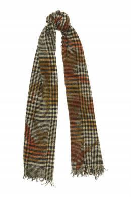 Клетчатый шарф из кашемира и шелка Faliero Sarti 3118172955