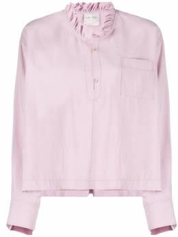 Forte_Forte блузка с длинными рукавами и оборками 7040MYSHIRT