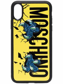 Moschino чехол Claw для iPhone X с логотипом A79078310