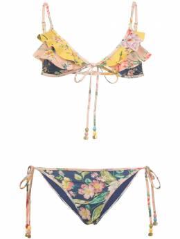 Zimmermann бикини с цветочным принтом и оборками 7685WZIN