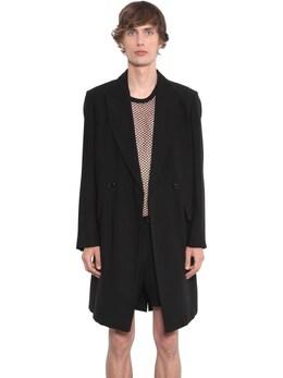 Двубортное Пальто Из Натуральной Шерсти Ann Demeulemeester 71I05C020-MDk50
