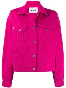 MSGM джинсовая куртка оверсайз с логотипом 2741MDH50TX195780